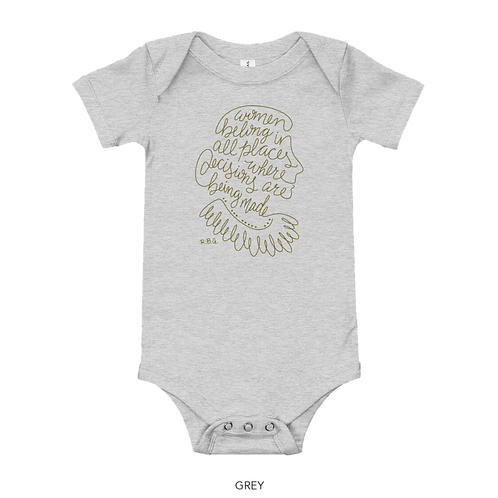 RBG Gray Baby Onesie - Women Belong