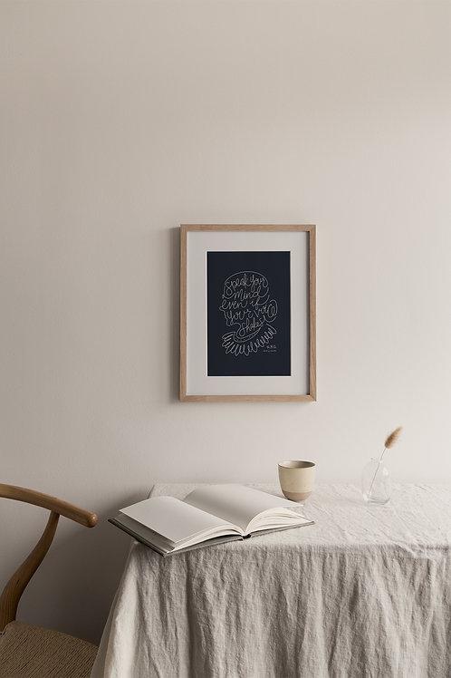 Speak Your Mind Giclée Print - Navy