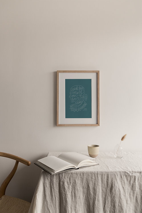 Speak Your Mind Giclée Print - Blue
