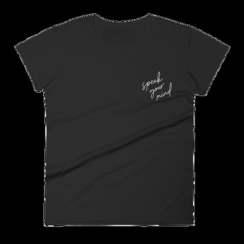 RBG Embroidered Ladies' T-Shirt - Speak Your Mind