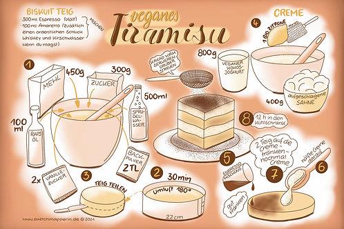 Veganes Tiramisu - Sketchnote Rezept
