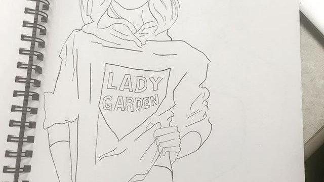 Lady Garden Print