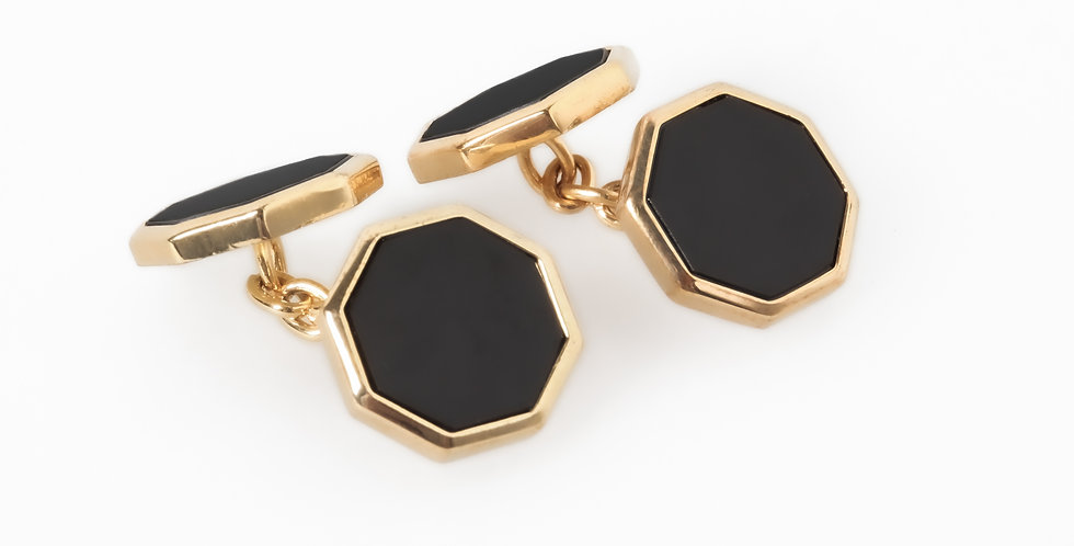 Onyx Chained Cufflinks