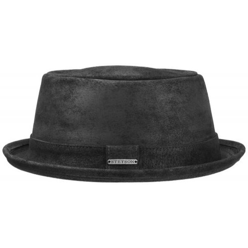 94c5076a2d25f3 Genuine leather pork pie hat by Stetson.
