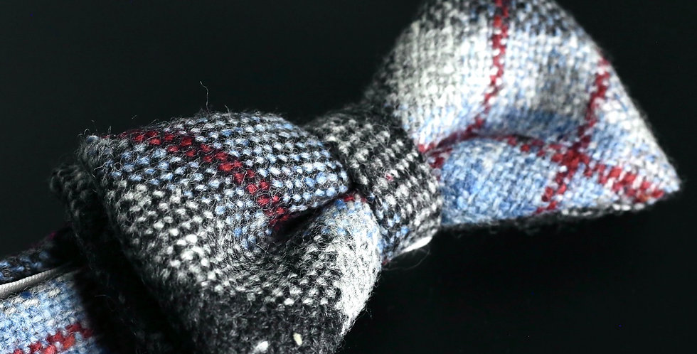 T.O.C Handmade Bow Tie : Red Check Donegal