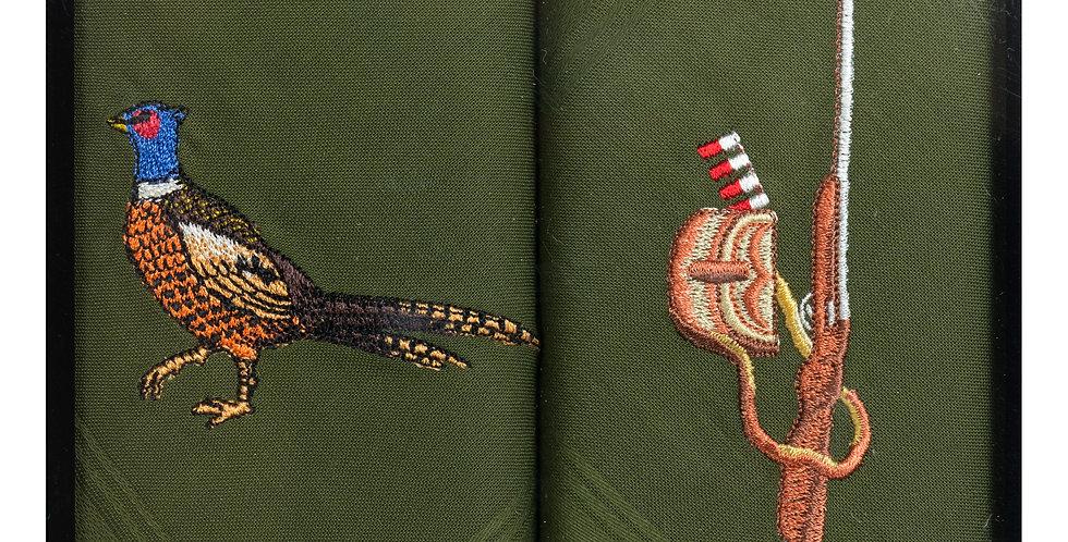 Handkerchief : Pheasant& Shotgun
