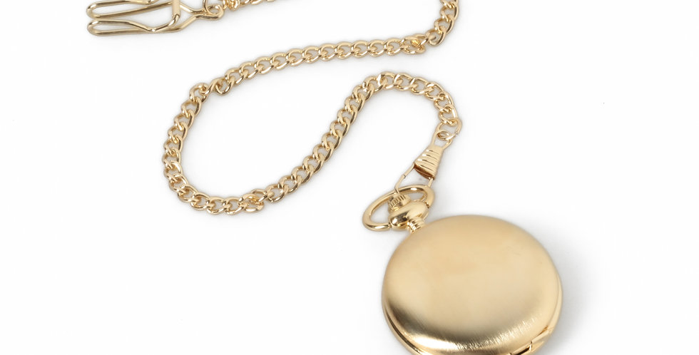 Quartz Pocket Watch & Chain