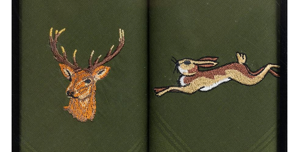 Handkerchief : Stag & Hare