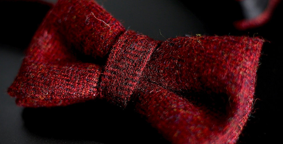 T.O.C Handmade Bow Tie : Red Pheasant Herringbone