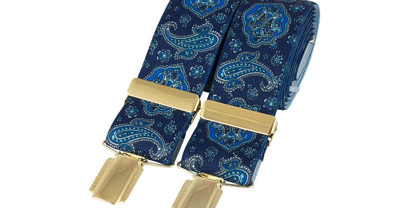 Braces : Blue Paisley