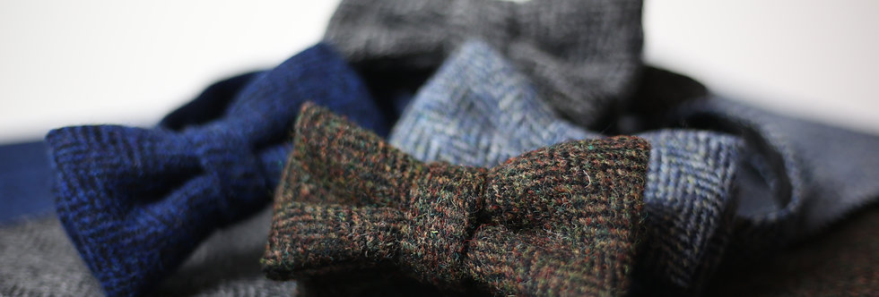 T.O.C Handmade Bow Tie : Harris Tweed