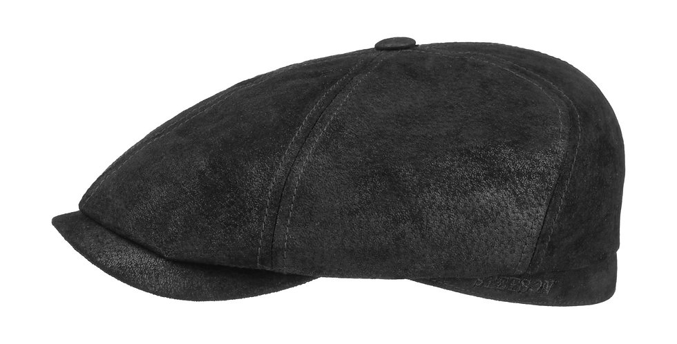 6-Panel Leather Cap