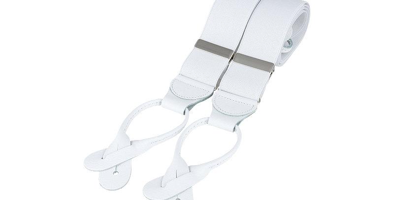 Button Braces : White