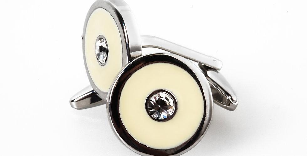 Round Enamel Cufflinks