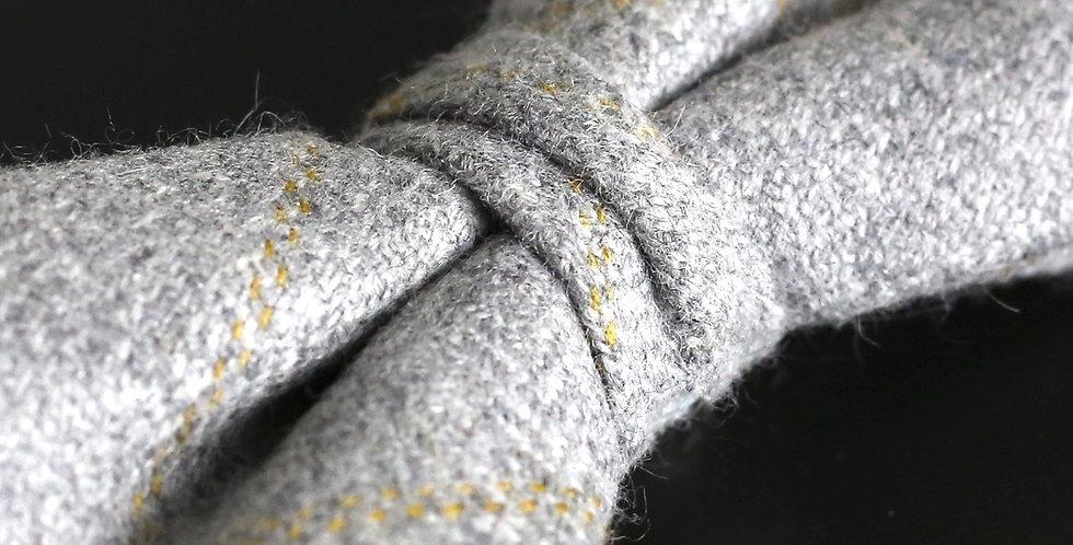 T.O.C Handmade Bow Tie : Grey & Yellow