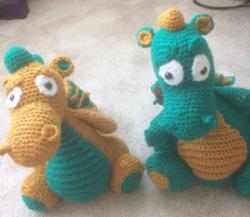 Cute crocheted dragons