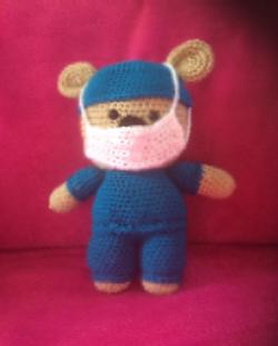 Crocheted Front Line Bear