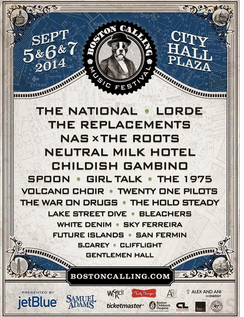 The National, Lorde Highlight September Edition of Boston Calling