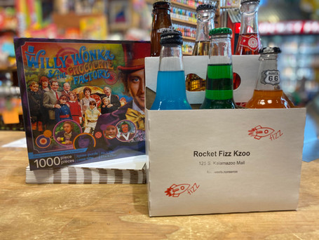 Willy Wonka Puzzle & 6-Pack