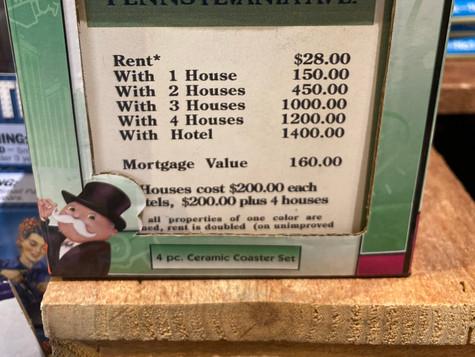Monopoly Coasters
