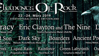 THEOCRACY to Headline ELEMENTS OF ROCK FESTIVAL 22-24 March 2019 in Switzerland