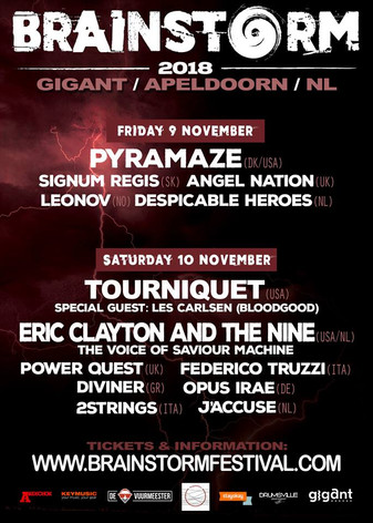 Lineup Announced for the Netherlands' BRAINSTORM FESTIVAL