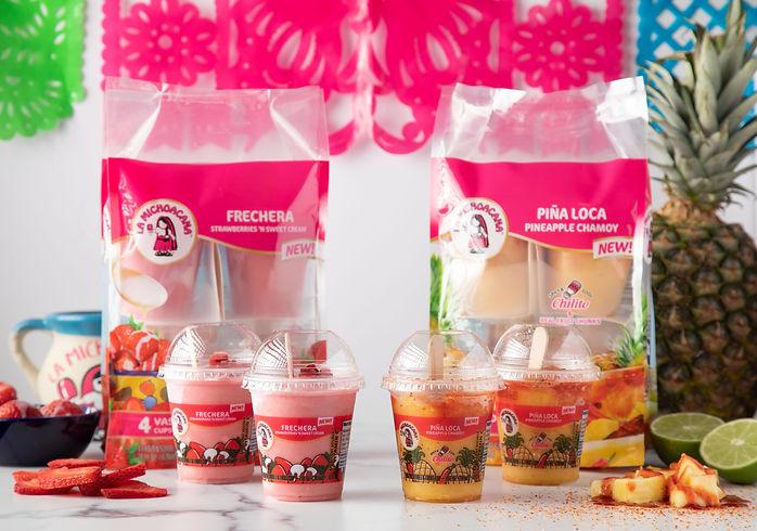 La Michoacana Frechera Pina Loca Strawberry Pineapple Chamoy Vasitos Fruit Cups