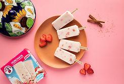 La Michoacana Dairy Free Ice Cream Bars Horchata con Fresas With Strawberries Paletas