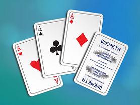 Werbemittelgestaltung - Spielkarten Wiemeta