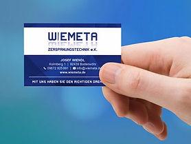 Visitenkarte Wiemeta