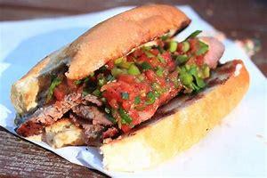 TriTip Sandwich with Salsa