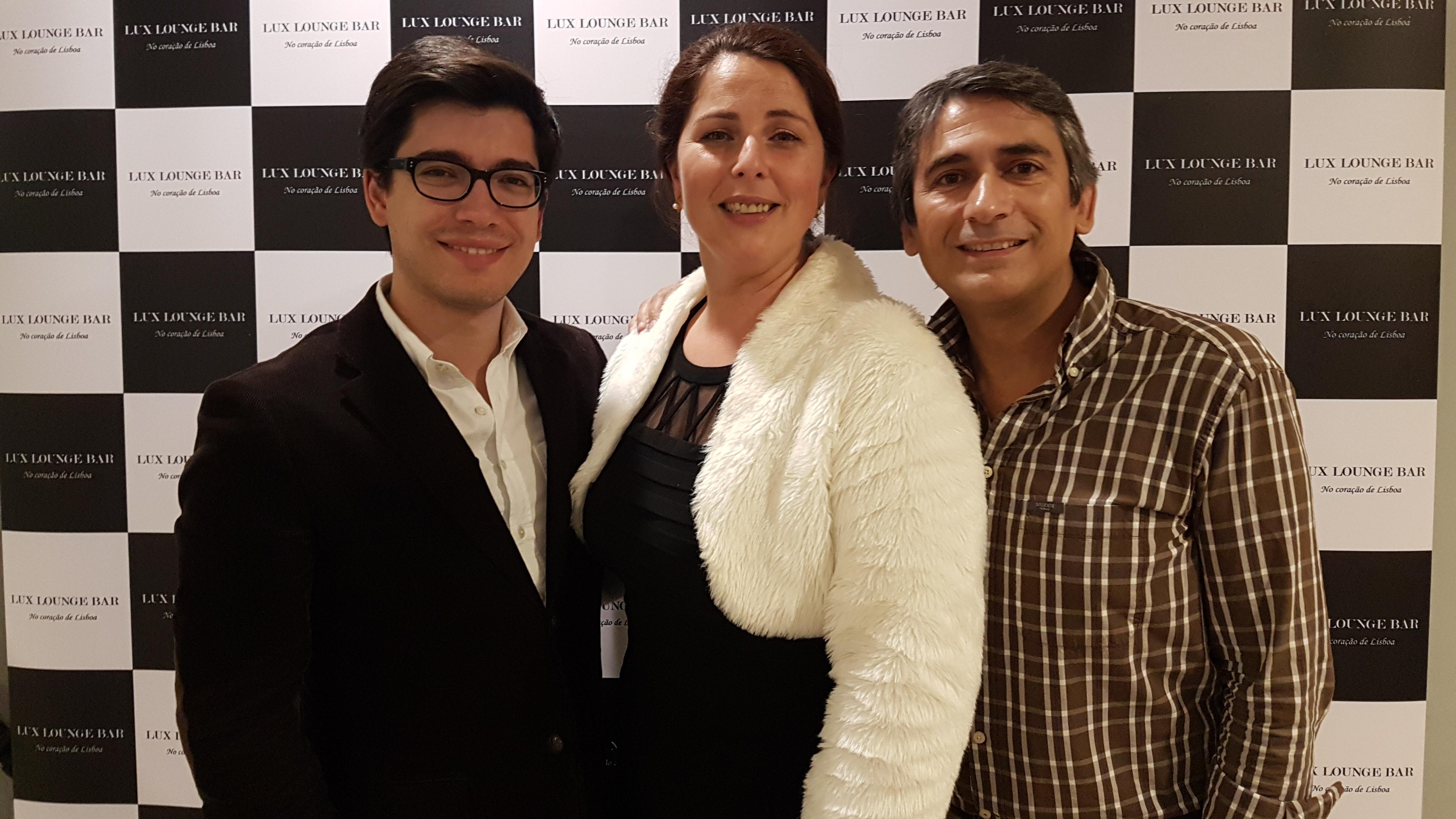 André, Teresa Tapadas e Pedro Luis
