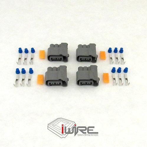 OEM Replacement connector plug Subaru coil pack plug, grey 3 pin coil pack plug