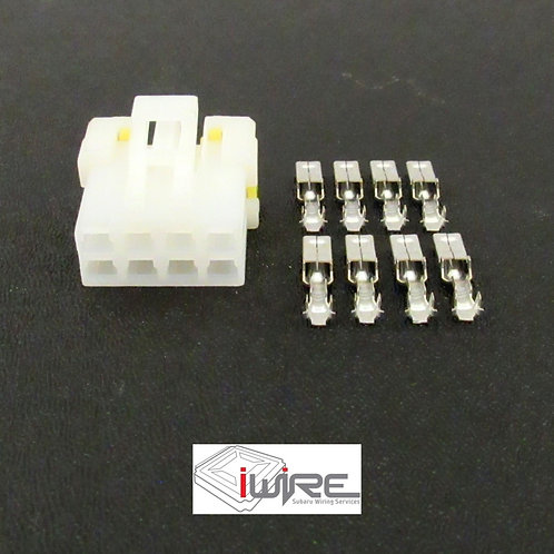Subaru Headlight Leveler Button Switch Plug Connector, Subaru white 8 pin connector