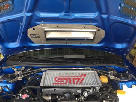 GD and GR STi Intercooler Splitter for 1997-2001 Impreza Hoods