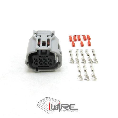 Subaru OEM replacement connector Front View Camera Plug, 8 pin gray subaru plug