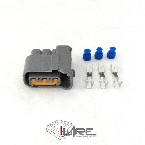 subaru 3 pin gray coil pack plug, subaru 3 pin grey plug, subaru coil pack plug, OEM replacement for new model subaru coil pa