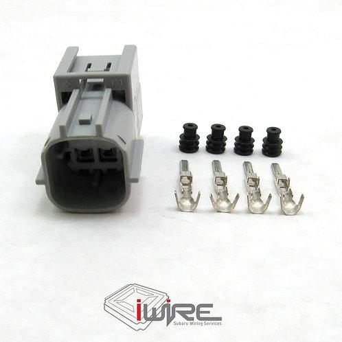 Rear O2 Sensor Receptacle for 15+ Subaru WRX, green 4 pin subaru receptacle, subaru replacement connector