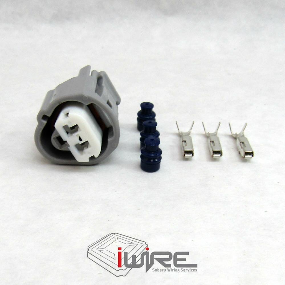 Three 3 pin subaru coolant temperature sensor plug connector OEM replacement