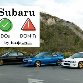 Subaru Project Do's and Don'ts