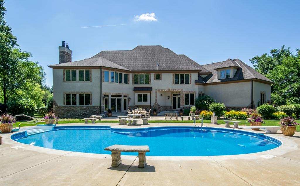 Rear Exterior Luxury Home