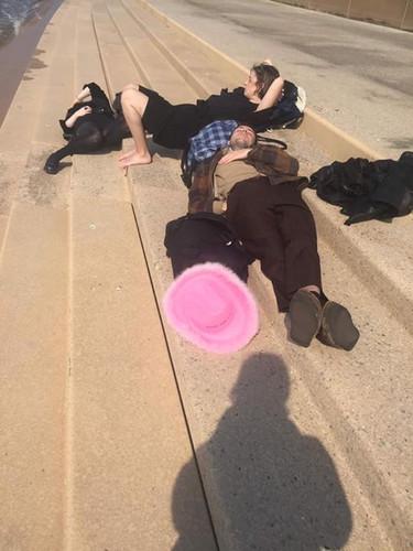 Sleeping on central beach