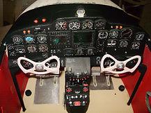 Panel de instrumentos D 18 replica, aeromodelismo