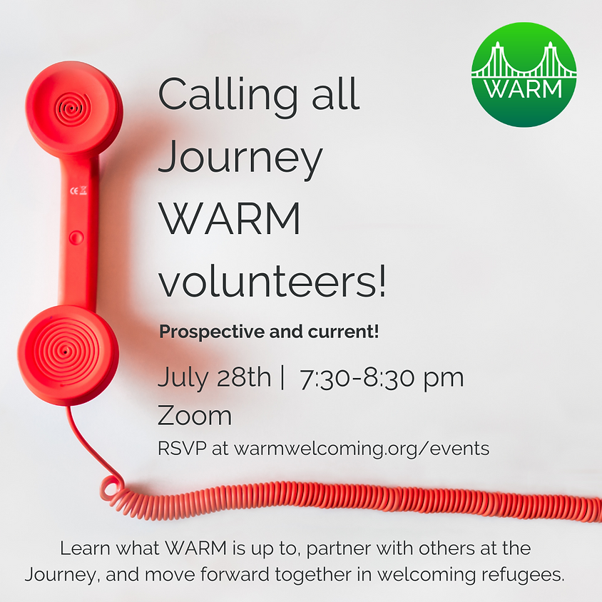 WARM Journey Church Volunteer Meeting