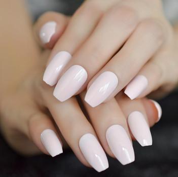light-pink-coffin-shiny-acrylic-nails-me