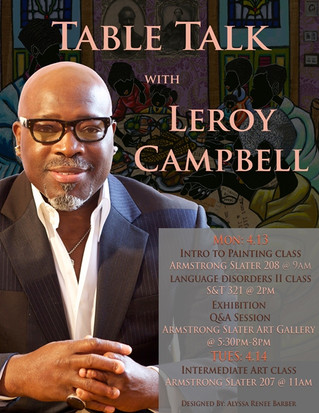 MR. CAMPBELL AT THE ARMSTRONG SLATER ART GALLERY FOR A TABLE TALK AND ART EXHIBITION