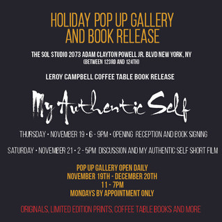 HOLIDAY POP UP GALLERY AND BOOK RELEASE