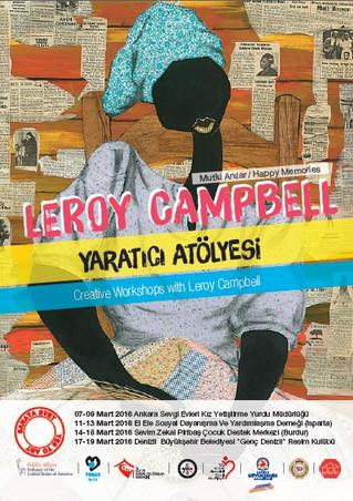 World-renowned U.S. Artist Leroy Campbell visits Ankara for International Women's Day Activities
