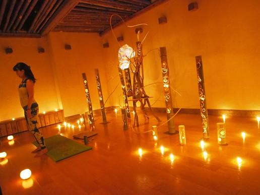 竹灯篭 キャンドルヨガ