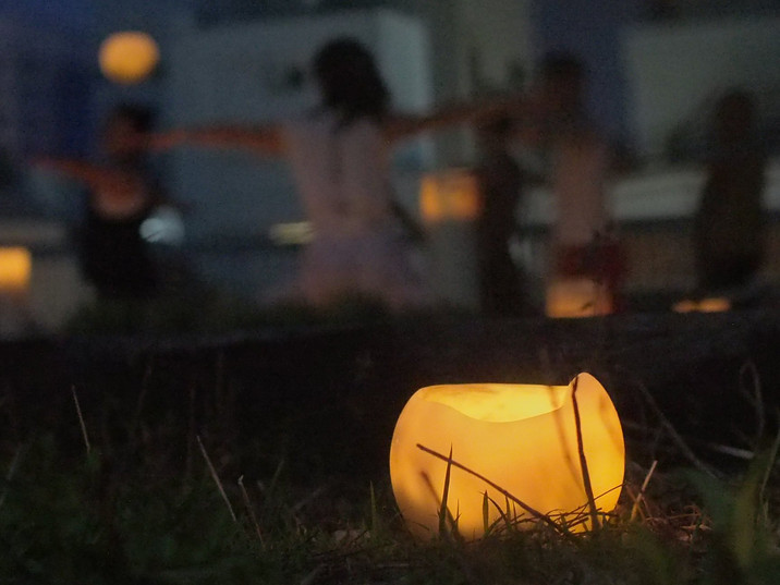 横浜関内 屋上キャンドルヨガ